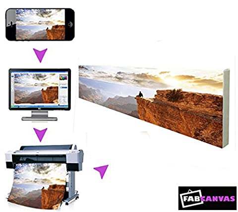 10x45 inch Panoramic My/Your Image/Photo Picture To Canvas Frame Print