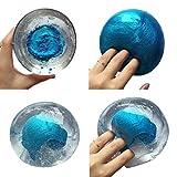 IGEMY Kinder Dekompressions-Ton-Spielzeug, Bunter mischender Wolken-Schleim (Blau1)