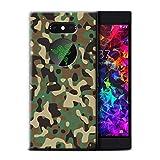 eSwish Gel TPU Hülle/Case für Razer Phone 2 / Grün 3 Muster/Armee/Tarnung Kollektion