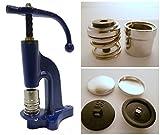 GETMORE Parts Knopfmaschine mit Zwei Knopfwerkzeugen und 2 x 100 Knöpfen Zum beziehen - 18er + 22er