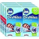 Huggies DryNites Boy hochabsorbierende Pyjamahosen Unterhosen für Jungen 4-7 Jahre, 2 Pack (3x 10 Windeln)