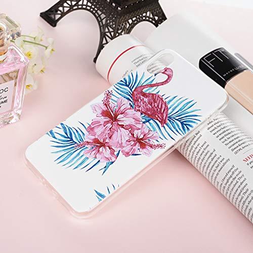 3 X Coques iPhone XS Max 6.5 Pouces LaVibe Étui Gel Silicone TPU Full Protecteur Design Transparant Housse Anti-Rayures Pare-Chocs Bumper Souple Ultra Slim Flexible Soft Case Cover - Flamant