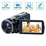 Videokamera Camcorder GOXMGO Full HD 1080p Kamera 24.0MP Digitalkamera Nachtsicht Vogging Kamera 18X Digitaler Zoom 3.0