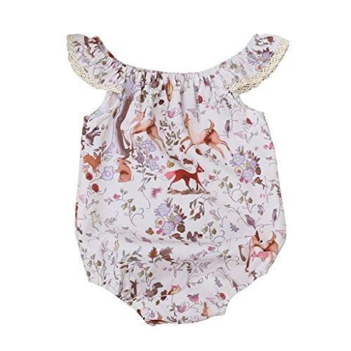 Ideen Kostüm Tag Twin (Neugeboren Aus Schulter Hirsch Blumen Drucken Spitze Overall (100,)