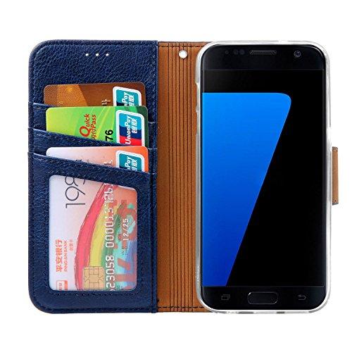 Nnopbeclik Samsung Galaxy S7 Hülle, Handyhülle Galaxy S7 Tasche Leder Flip Cover Case Brieftasche Handy Schutzhülle für Samsung Galaxy S7 2016 5.1 Zoll