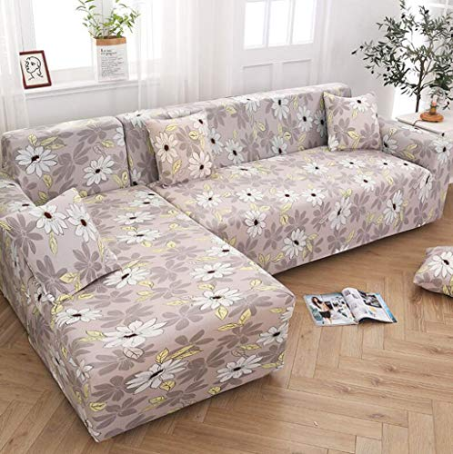 1-teiliges Stretch Sofa Couchbezüge Muster ausgestattet Schonbezug Universal Elastic Fabric Sofa Sectional Furniture Protector,E,2seater(145~185cm) -
