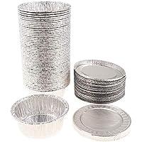 P Prettyia 50 unds Bandejas Redondas de Papel de Aluminio para Hacer Torre de Fruta Durable