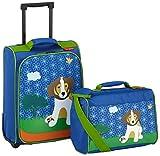 Travelite Youngster Promo 2w S, Reisetasche, 81650-20 Kindergepäck, 36 Liter, Blau Hund