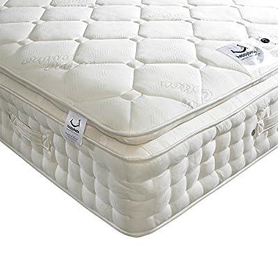 Happy Beds Dorchester 2000 Pocket Sprung Organic Pillow Top Mattress - cheap UK light shop.