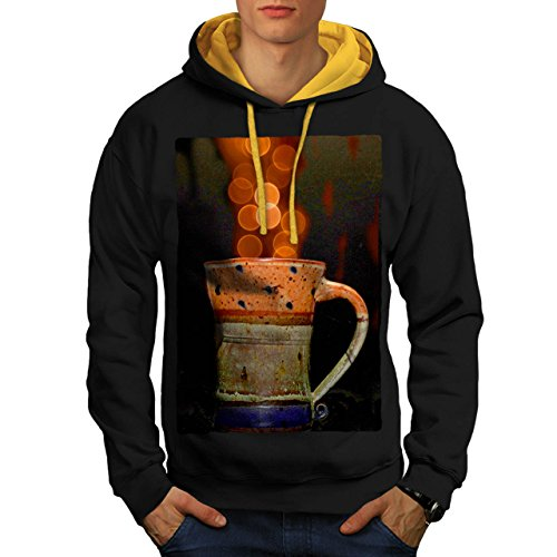 stylish-cup-of-tea-color-bubbles-men-new-black-gold-hood-m-contrast-hoodie-wellcoda