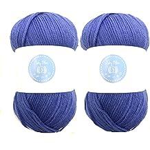 2 ovillos House of Cecilia de 100 g de color Sky Blue, 100% hilo