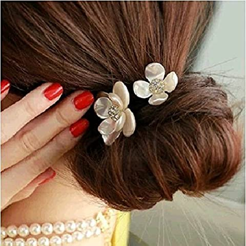 More RM Hair Accessories Fashion Punk Polish Metal Bow Tie Hair Band Cuff Wrap Pony Tail Holder Headband (E) by More and more