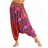 Die besten Thailand Mens Yoga Pants - Men Women Yoga Wide Leg Pants,Casual Print Floral Bewertungen