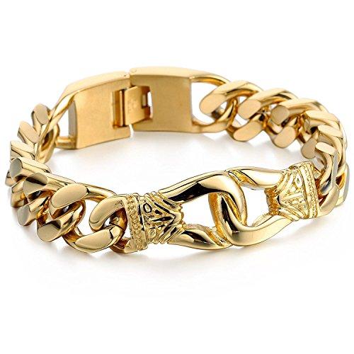 trendsmax-135mm-uomini-ragazzi-intagliato-nodo-tagliare-del-bordo-cubano-braccialetto-della-collana-
