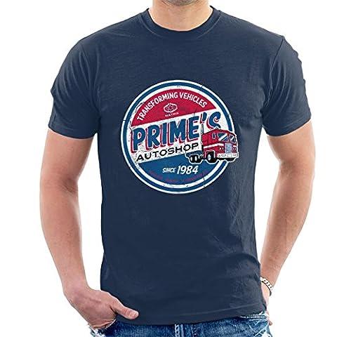 Transformers Optimus Prime Autoshop Men's T-Shirt