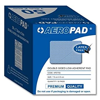 Aeropad Double-sided Low Adherent Pad 7.5cm x 5cm (50 per box)
