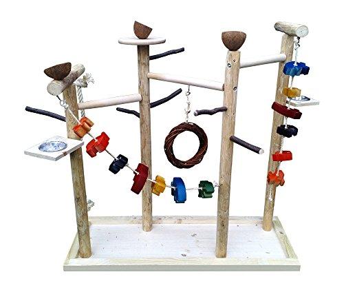 Großer Kletterbaum für Vögel mit Vogelspielzeug , Papageienfreisitz 598