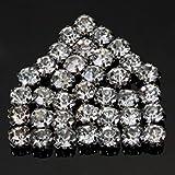 40 perles de cristal en strass à coudre MaltonYO17 (5mm)