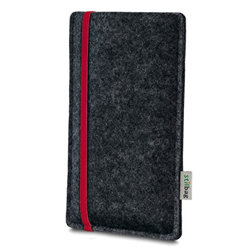 Stilbag Filztasche 'LEON' für Apple iPhone 6s plus- Farbe: rosa-anthrazit rot