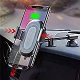 ZYX QI Wireless Charger Schwerkraft Auto Halter Für iPhone X 8 Quick Charge Wireless Auto Handy Halter Ladegerät Für Samsung S9 S8,Silver