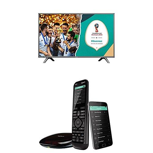 Hisense H49NEC5605 123 cm (49 Zoll) Fernseher (Ultra HD, HDR, Triple Tuner, Smart-TV) + Logitech Harmony Elite- Touchscreen-Fernbedienung für Home Entertainment (funktioniert mit Amazon Alexa) schwarz (Hisense 50 Tv)