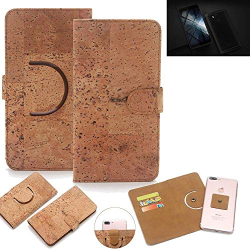 K-S-Trade Schutz Hülle für Vernee Apollo X Handyhülle Kork Handy Tasche Korkhülle Schutzhülle Handytasche Wallet Case Walletcase Flip Cover Smartphone