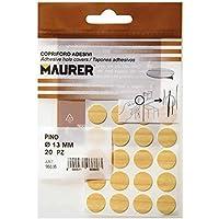 MAURER 5440106 - Tapatornillos Adhesivos Pino (blíster 20 unidades)