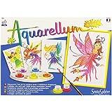 Sentosphere 3900672 - Aquarellum hadas Junior, colorear dibujos para colorear juego de 4