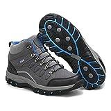 Tlgf Stivali da Trekking Impermeabile Alto, Camminare/Scarpa da Trekking, Traspirante, Morbido, Confortevole,Gray,39