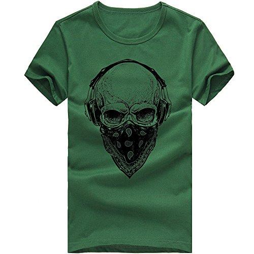 nner Herren Männer Druck Tees Shirt Kurzarm T Shirt Bluse Herrenmode Print T-Shirt (Grün, M=EUS) (Grüner Mann Anzüge)
