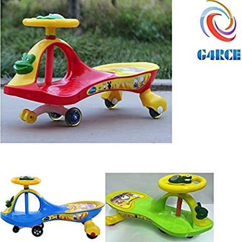 G4RCE® KID CHILDREN SWING CAR RIDE ON SWIVEL SCOOTER WIGGLE GYRO TWIST GO BOY GIRL BEST GIFT FOR BIRTHDAY XMAS