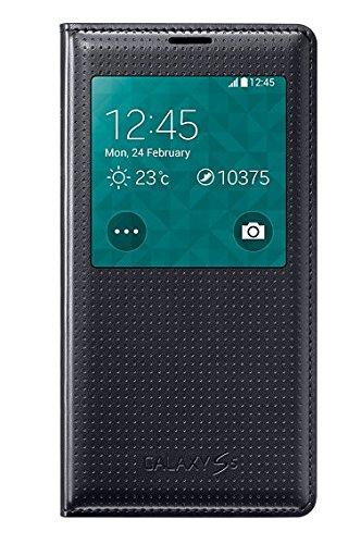 Samsung EF-CG900BKEGWW Flip Cover mit Sichtfenster in kohlenschwarz Galaxy S5 (Samsung Kamera Flip-cover)