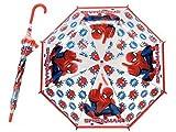 Paraguas Infantil 69cm Transparente 8 Varillas Spiderman Radio 48cm