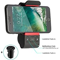Bluetooth Car Kits, Wireless Car Audio Adaptor ,Speakerphone ,Handsfree Bluetooth Car Mobile Phone Mount Holder For iPhone X 8 7 6s Plus Galaxy S8 S7 S6 Note 8 5 4 Huawei and GPS Device