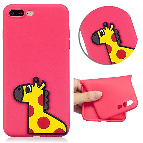 Cover Per Iphone 8 plus /Iphone 7 plus 5.5 pollici, Vandot 360° Full Body Cover Per Iphone 8 plus /Iphone 7 plus 5.5 pollici Silicone Case Molle di TPU Trasparente Sottile Custodia Per Iphone 8 plus / Cute 5