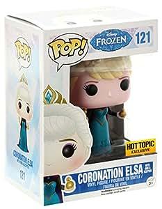 Funko - Figurine Disney - La Reine des Neiges (Frozen) - Elsa Couronnement Exclu Pop 10cm - 0849803048853