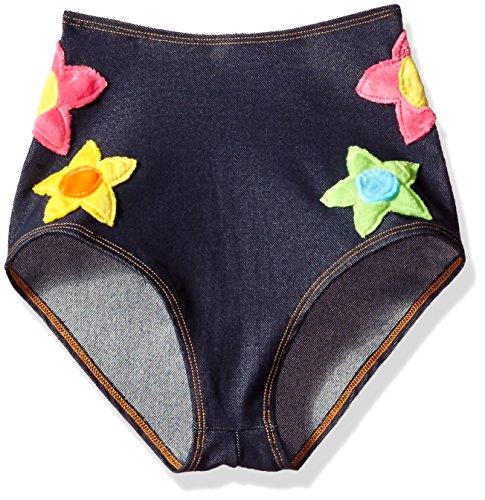 Kostüm Valentine J - J.Valentine Damen Flower Power Shorts - Blau - Large/X-Large