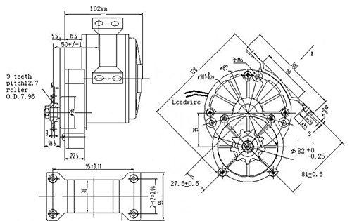 250w spazzola elettrica motore per bicicletta elettrica acceleratore con chiave interruttore e batteria di voltaggio semplice motore kit per il bricolage e-bike - 8