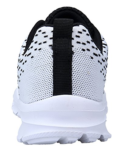 KOUDYEN Scarpe Donna da Fitness Jogging Sport Running Scarpe da Ginnastica Sportive Mesh Respirabile all'Aperto Sneakers nero bianco