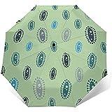 Virus Travel Umbrella Ombrelli pieghevoli Ombrello automatico ripiegabile Sole per donna Uomo