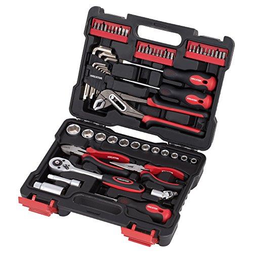 Werkzeug-Set 61-teilig KREATOR Werkzeugkoffer Werkzeugkiste Steckschlüssel-Satz