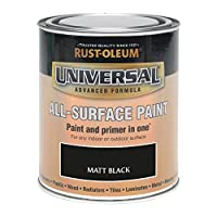 Rust-Oleum RO0030302F1 250 ml Universal Paint - Matt Black