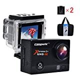 Campark ACT74 Action Cam Helmkamera Ultra HD 4K 12MP Wifi Wasserdicht Action Kamera Zeitraffer...