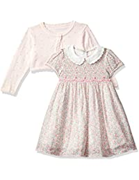 Mothercare Baby Girls' Pink Cardigan, Floral Dress and Knickers Set
