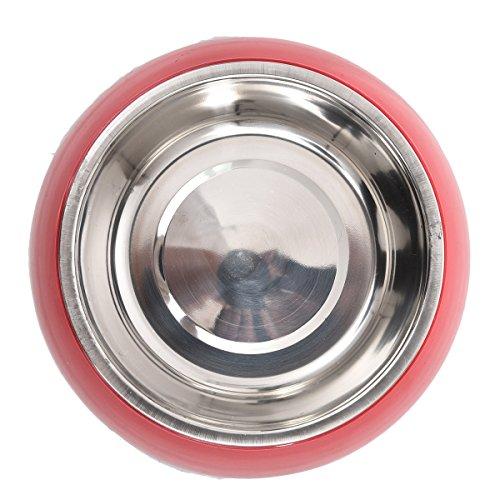 Pets Accessories Edelstahl-Haustier-trockene Nahrungsmittelschüsseln für die Haustiere, die Schüsseln trinkende Wasser-Brunnen-Teller-Reise speisen ( Color : Red , Size : L )