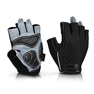 Mountain Bike Gloves Full Silicone Gel Padded Ladies Fingerless and Long Finger Mens Womens Gym Gloves RUNATURE Cycling Gloves