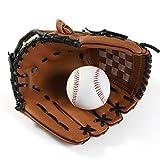 Guanto da Baseball Guanti da Baseball Nuovo Portatile Dark Brown Durable Men Softball Glove Sport Giocatore Preferito 12.5 Pollici