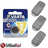 VARTA Autoschlüssel Batterie für VW Golf Jetta Passat Polo Tiguan Up Seat Skoda