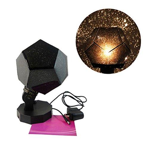 LEDMOMO Nachtlicht Projektor Stern Himmel Nacht Lampe 3 Modi Rotation 3 LED 3 Farbe Sternen Projektionslampe für Kind Baby Schlafzimmer, Weihnachtsgeschenk - Basis-projektor-lampe