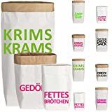 LS Design PaperBag L Wundertüte Papiersack Papierbeutel Papiertüte robust 40Kg Paper Bag